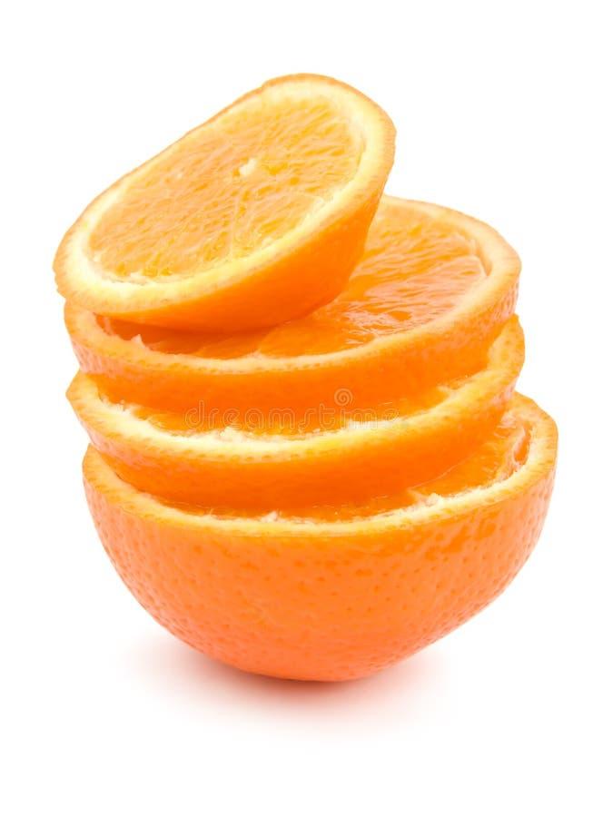Rijpe geïsoleerde sinaasappelen royalty-vrije stock foto's