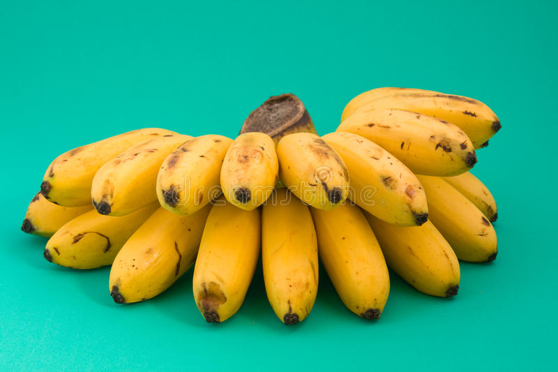 Rijpe gele banaan royalty-vrije stock afbeelding