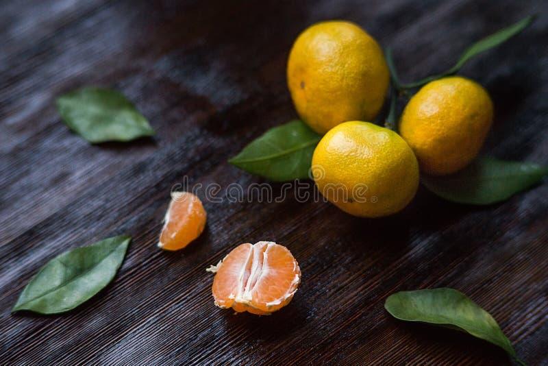 Rijpe mandarins royalty-vrije stock fotografie