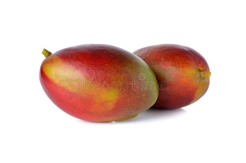 Rijpe mango (plammer) op wit royalty-vrije stock foto's
