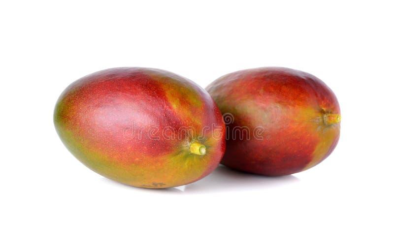 Rijpe mango (plammer) op witte achtergrond royalty-vrije stock foto's