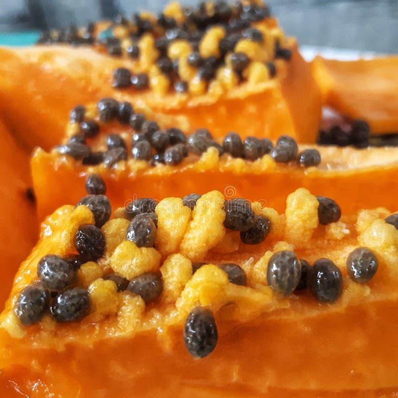 Rijpe papaja stock foto