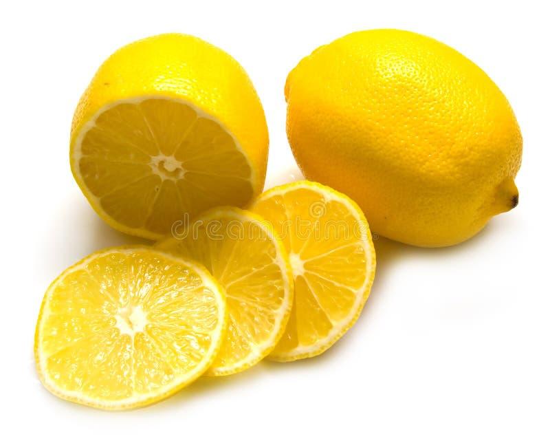 Rijpe sappige citroenen royalty-vrije stock afbeeldingen