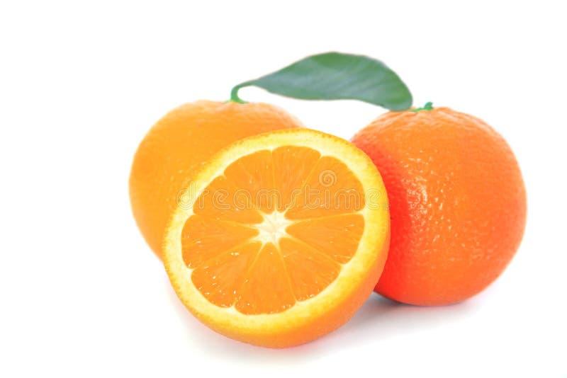 Rijpe sinaasappelen stock afbeeldingen