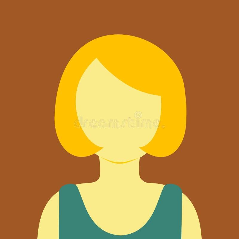 Rijpe van de de Mensen Vectorillustratie van het Vrouwen Korte Haar Grafische Kleur Als achtergrond vector illustratie