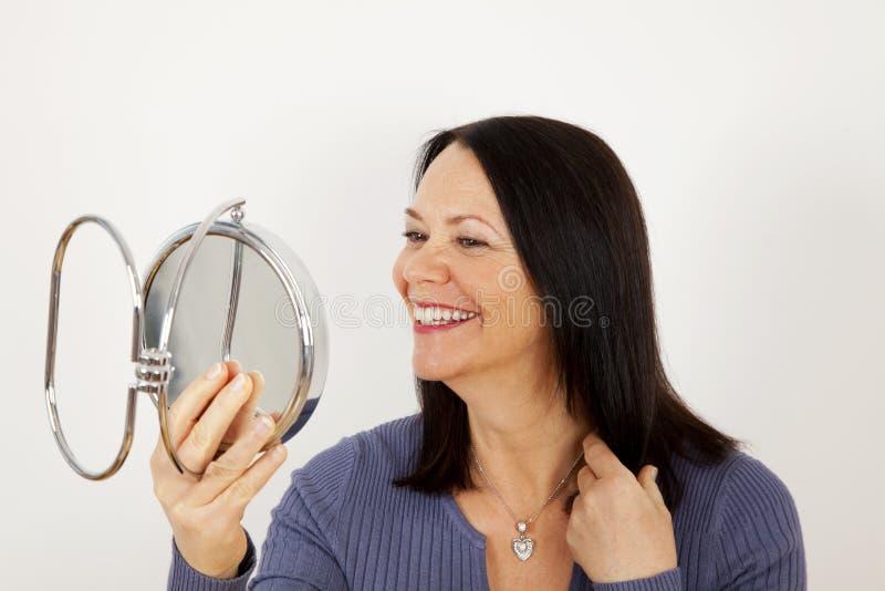 Rijpe vrouw stock afbeelding