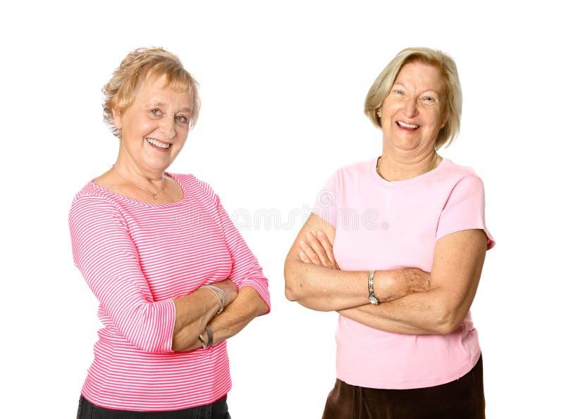 Rijpe vrouwenvrienden stock fotografie