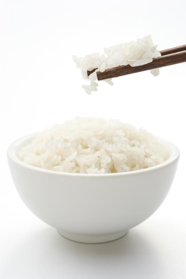 Rijst en eetstokje stock foto's