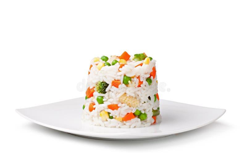 Rijst en groenten stock foto's