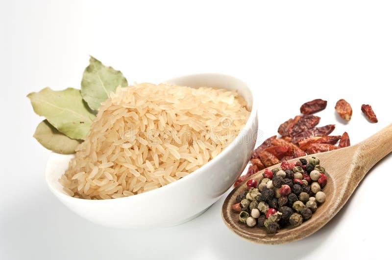 Rijst en kruid royalty-vrije stock afbeelding