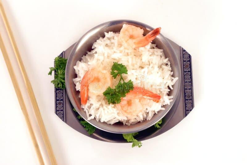 Rijst en prawns1 royalty-vrije stock foto's