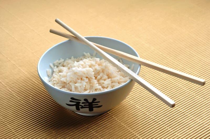Rijst en stokken royalty-vrije stock afbeelding