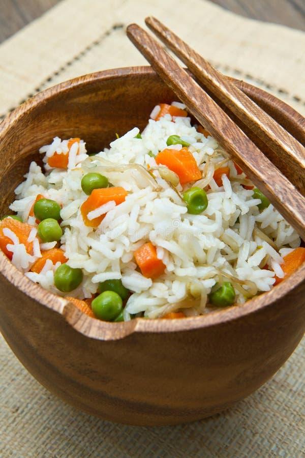 Rijst met groenten royalty-vrije stock fotografie