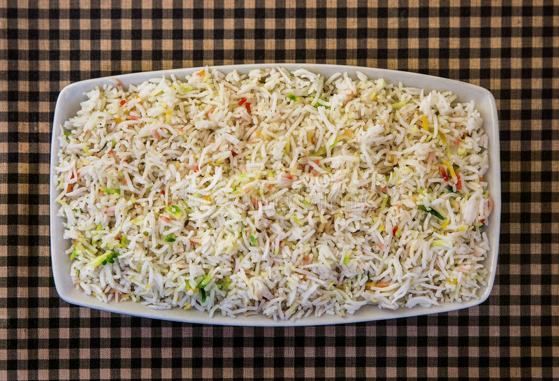 Rijst met groenten stock afbeeldingen