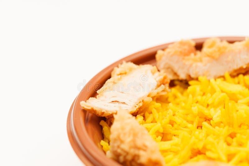 Rijst met kip royalty-vrije stock fotografie