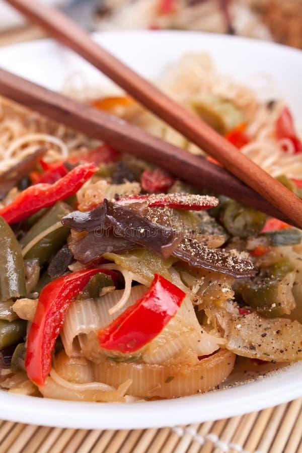 Rijstnoedels met groenten royalty-vrije stock foto's