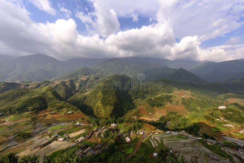 Rijstterrassen in sapadistrict, Lao Cai Province, Noordwesten Viet royalty-vrije stock fotografie