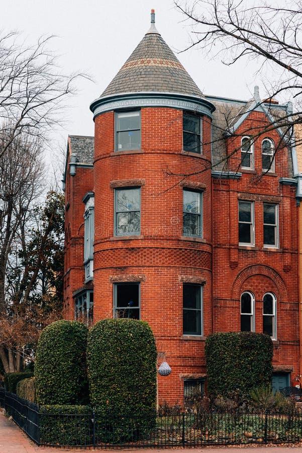 Rijtjeshuizen in Capitol Hill, Washington, gelijkstroom royalty-vrije stock foto