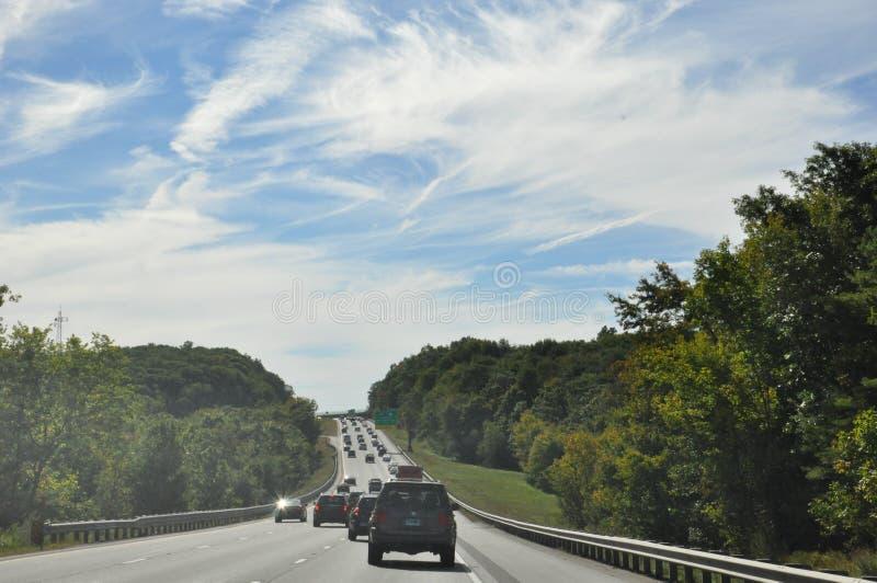 Rijweg door het platteland van Massachusetts royalty-vrije stock fotografie