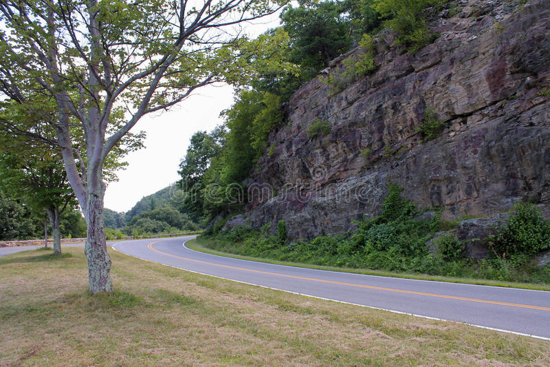Rijweg van het Shenandoah de Nationale Park stock foto's