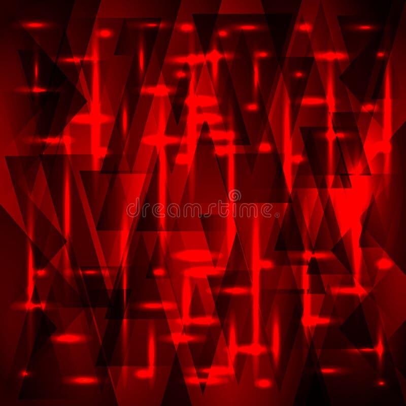Rik röd modell för vektor av fragment och trianglar med stjärnor stock illustrationer
