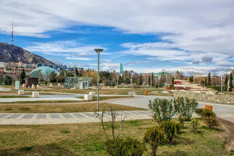 Rike Park op het Gebied van Europa Tbilisi, Georgi? royalty-vrije stock afbeeldingen