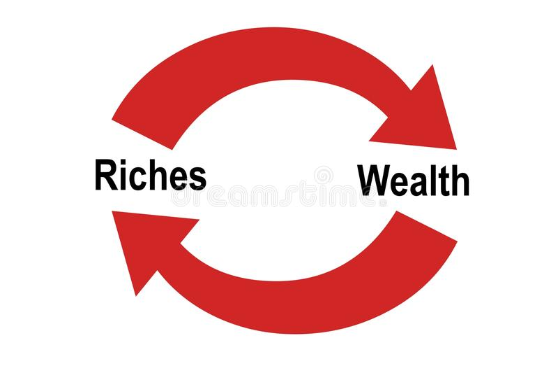 rikedom vs rikedom stock illustrationer