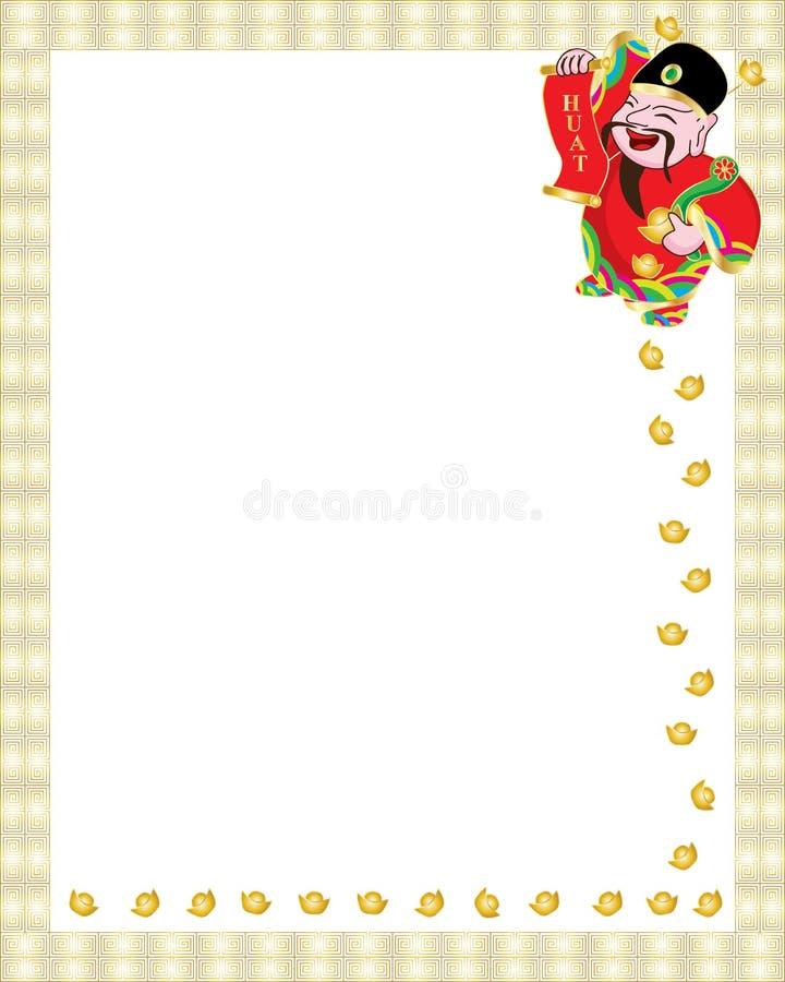 Rikemanpengardroppe royaltyfri illustrationer
