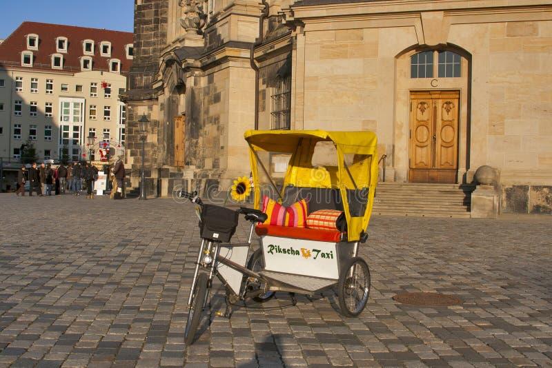Rikscha Taxi in Dresden stock image