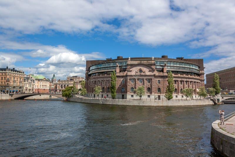 Riksdag编译的外部 免版税库存照片