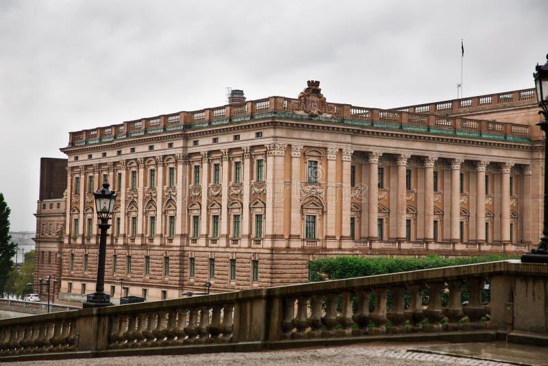 Riksdag parlamentu budynek W Sztokholm zdjęcie stock