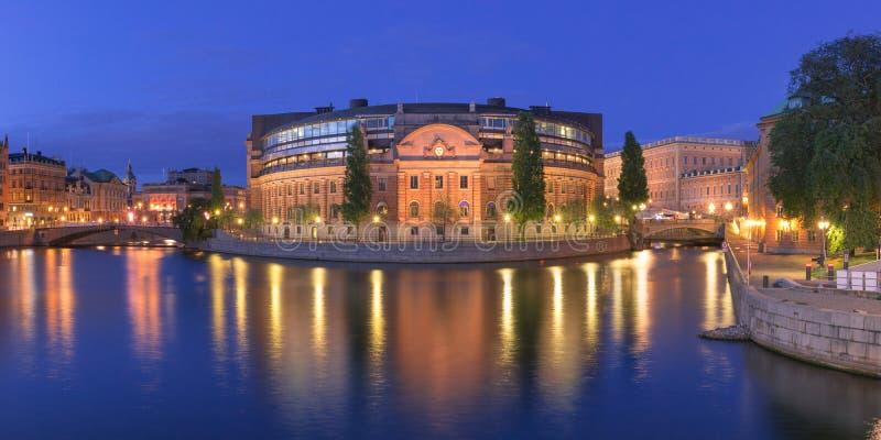 Riksdagshuset στη Στοκχόλμη, Σουηδία στοκ εικόνες