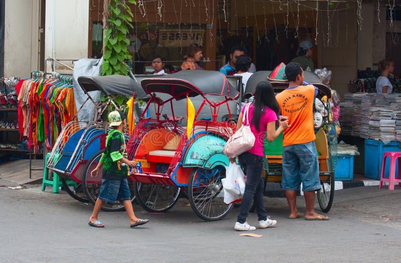 Rikshaw de la bicicleta foto de archivo