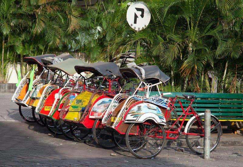 Rikshaw de la bicicleta imagen de archivo