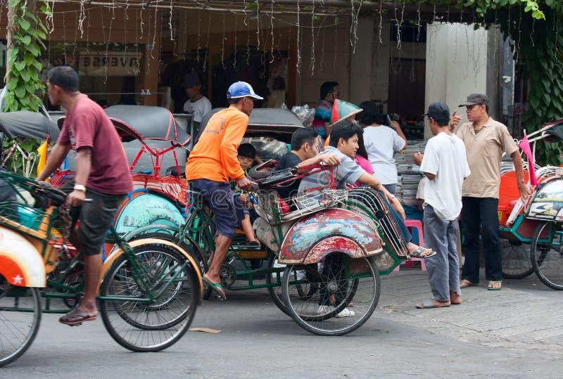 Rikshaw de la bicicleta imágenes de archivo libres de regalías