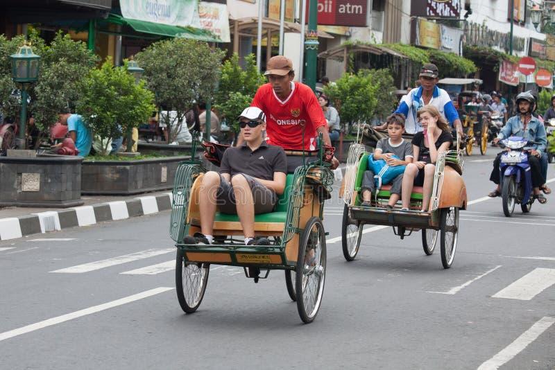 Rikshaw de la bicicleta fotos de archivo