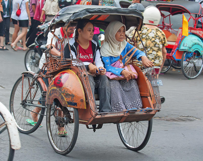 Rikshaw de la bicicleta fotografía de archivo