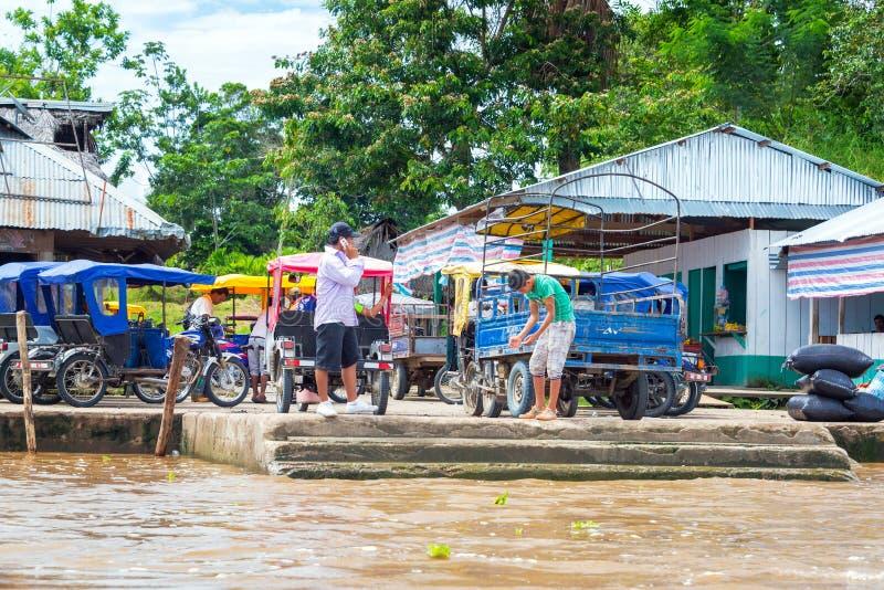 Riksja's dichtbij Iquitos, Peru royalty-vrije stock afbeelding