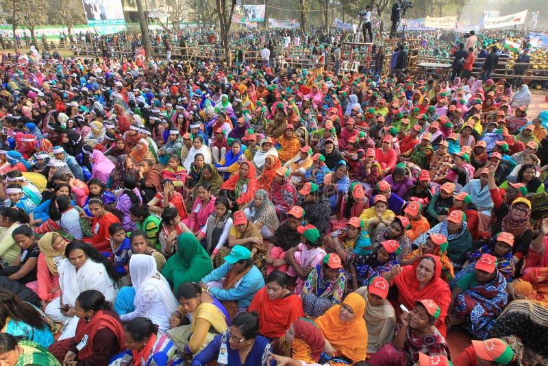 Riksstämma av den Bangladesh Awami ligan royaltyfria bilder