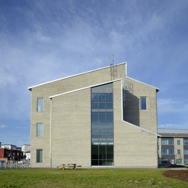 Rikstens skola i Tullinge, Sverige royaltyfri bild