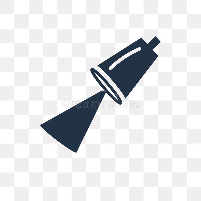 Rikta uppmärksamheten på vektorsymbolen som isoleras på genomskinlig bakgrund, Spotli stock illustrationer