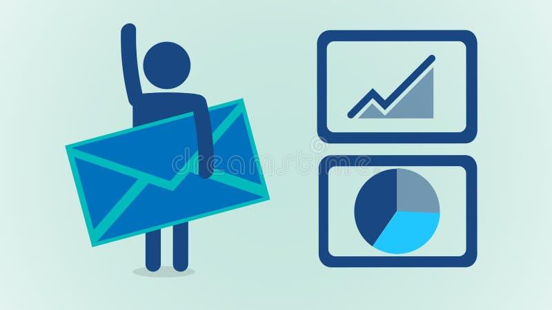 Riktade Emails royaltyfri illustrationer