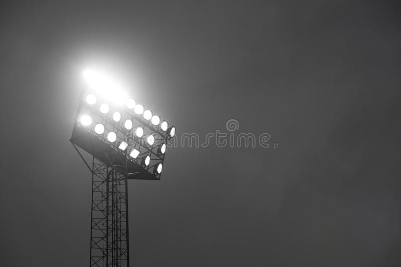 riktar uppmärksamheten på stadion arkivbilder