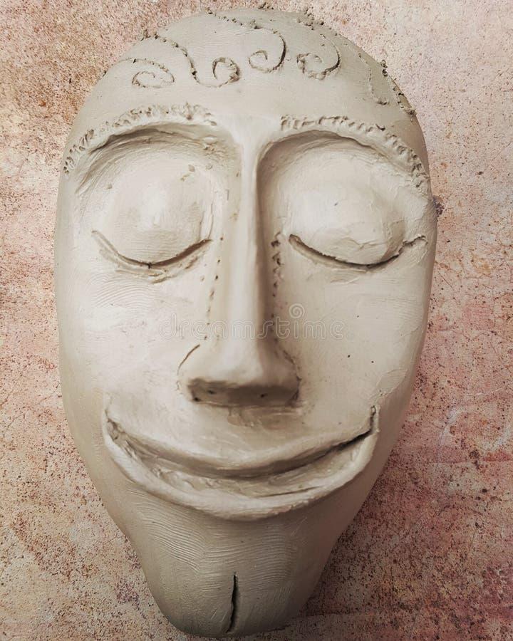 Riktig konst med handgjord lera arkivfoto