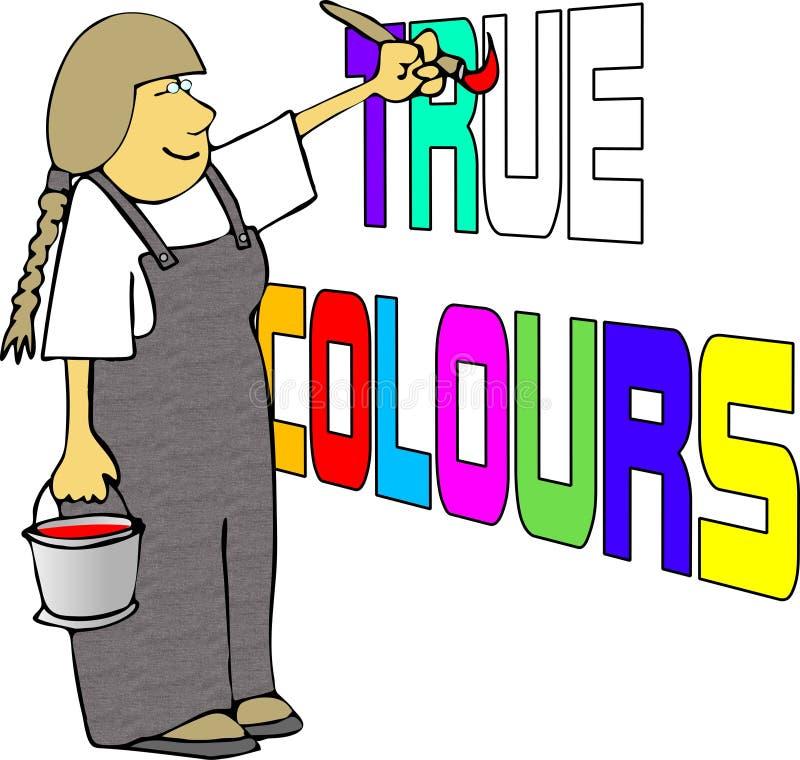riktiga färger royaltyfri illustrationer