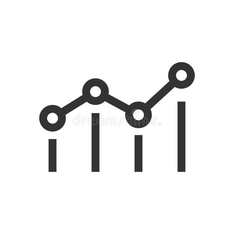 Riktlinjemåttsymbol i plan stil Illustration för instrumentbrädavärderingsvektor på vit isolerad bakgrund Framstegserviceaffär vektor illustrationer