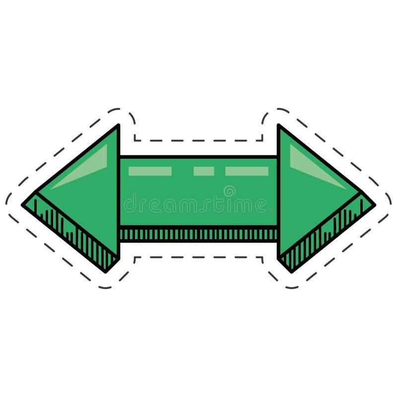 riktning för grön pil för tecknad film digital royaltyfri illustrationer