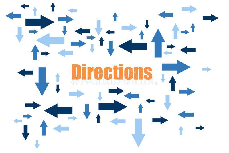 riktningar stock illustrationer