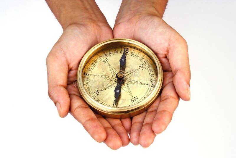 riktningskompass royaltyfria bilder