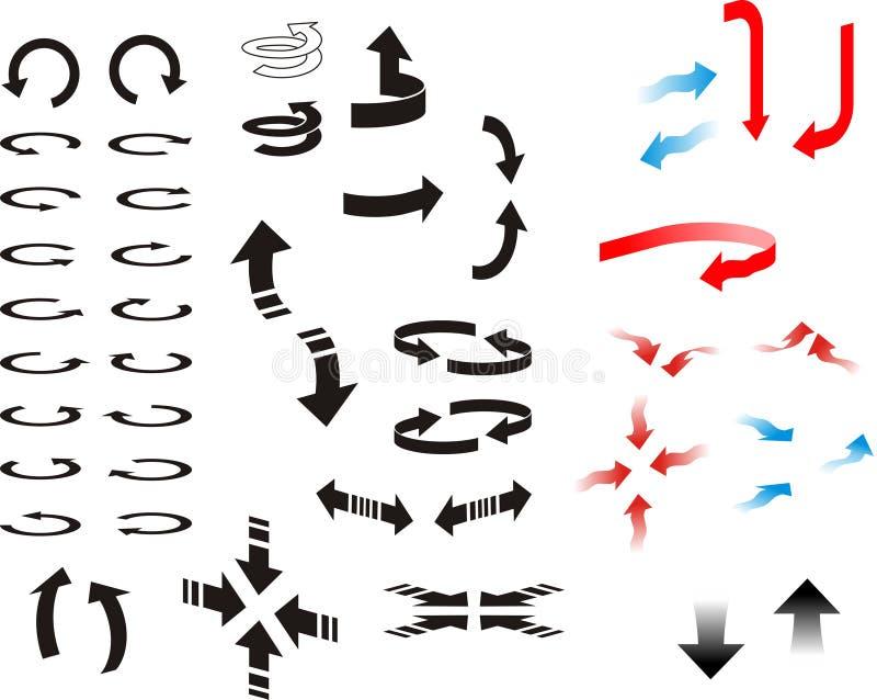 riktningspilar stock illustrationer